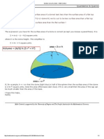 Surface Area of a Dome