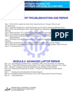 Laptop Repair Course Outline