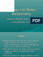 Journey Into Better Relationship - Master your anger