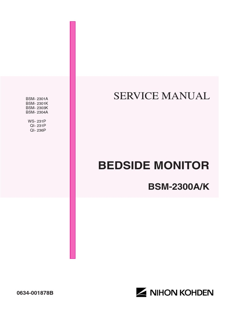 Nihon Kohden Bsm 2300 Service Manual Electromagnetic Heartbeat Monitor Project Circuit With Tachycardia Alarm Circuits Interference Radio