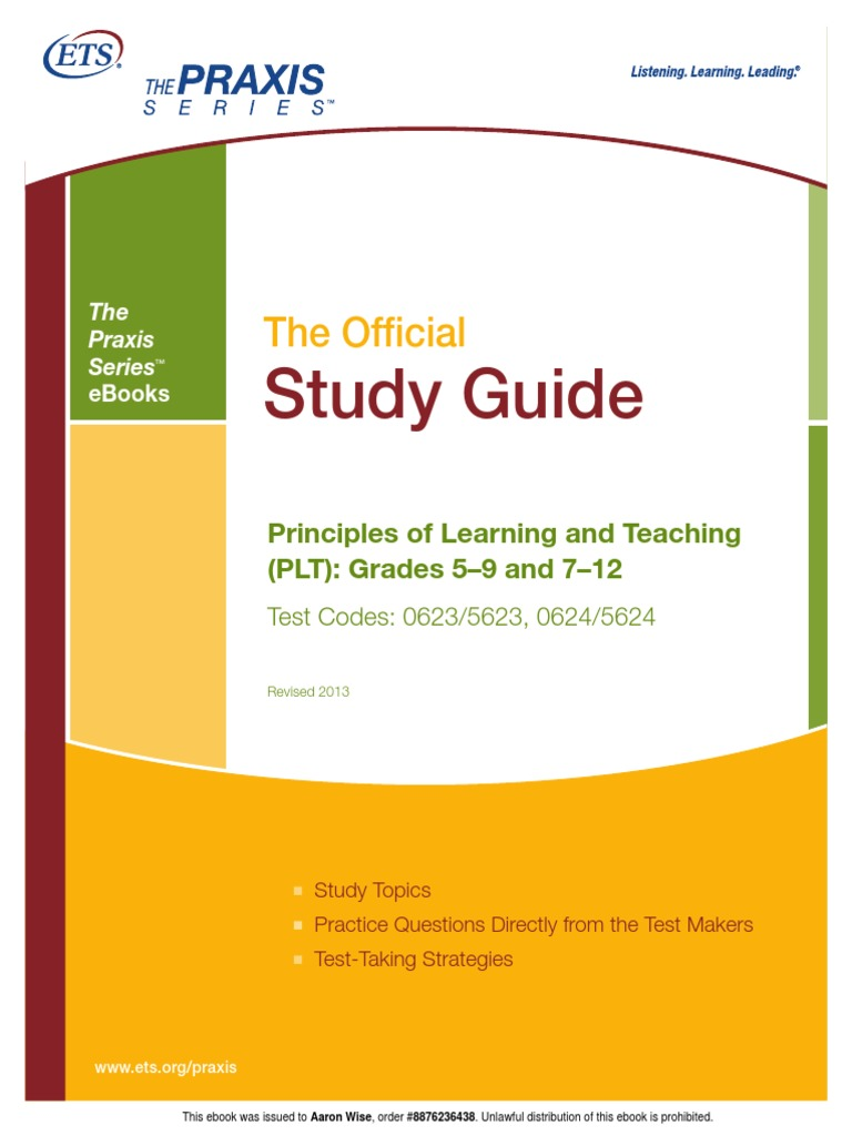 Plt study guide test assessment curriculum fandeluxe Choice Image