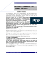 IES 2007 General Ability Test