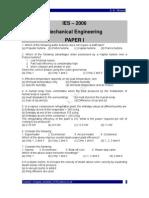 IES Mechanical Engineering 2006 - I
