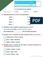 Exercícios Gramaticais III