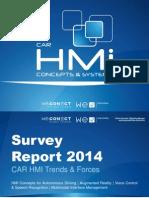 CAR HMi Concepts & Systems 2014 - Survey Report