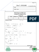 Class 7 Model Papers