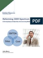 Refarming GSM Spectrum