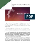 Ubuntu 14.10 (Utopic Unicorn) Now Based on Linux Kernel 3.16