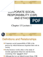 Lecture 1 CSR & Ethics