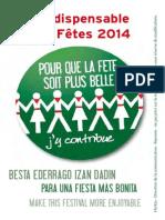 Indispensable Des Fetes de Bayonne 2014