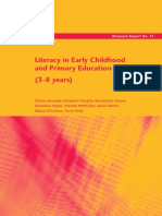 Literacy in Early Childhood and Primary Education (3-8 Years)