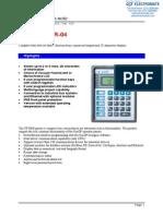 Exor CP01R-04 Specsheet