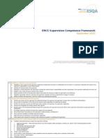 EMCC Supervision Competence Framework