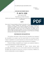 P del S 1228 - 2009 - Crear Comisión Estatal de Relaciones Laborales de Puerto Rico
