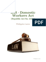 IRR - Domestic Workers Act