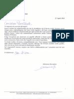 Lettera Burrafato a Crocetta