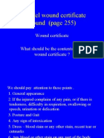 wound certificate