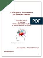 L'Intelligence Émotionnelle de Daniel Goleman - Ficher de Lecture Par Rossano Et Di Nunzio (2011)