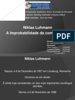 Niklas Luhmann - A Improbabilidade Da Comunicação