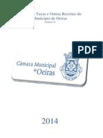 CMO - Regulamento de Taxas e Outras Receitas - 2014