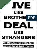 Live Like Brothers Deal Like Strangers-Mufti Muhammad Taqi UsmaniDB