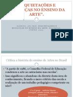 Ana Mae Barbosa Inquietações Do Ensino Da Arte