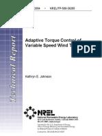 Adaptive Torque Control of Variable Speed Wind Turbine