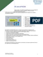 Exor EPAP05 EPAD06 Specsheet