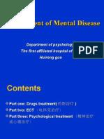 management of mental disease