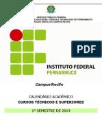 calendário IFPE