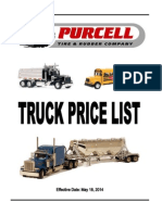 Truck Retread Price Book Update 10-1-12