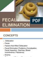 Fecal Elimination