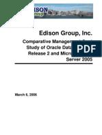 Oracle 10g Release 2 vs SQL Server 2005