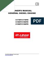 92477 Lifan Dieselmotor C186FD En