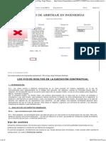 Los Vicios Ocultos en La Ejecución Contractual - Por El Ing. Jorge Donayre Ordinola - BLOG de ARBITRAJE en INGENIERÍAS