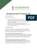 Solar Pv Design 101 Guide