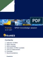 Presentation on NPSH