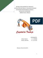 Trabajo de Finanzas. Capital de Trabajo