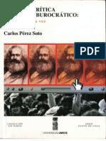 Pérez Soto, Carlos - Para una crítica del poder burocrático
