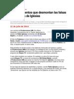 Los Documentos de Las Falsas Donaciones de Pablo Iglesias