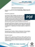 Informacion Programa ISO Auditoria