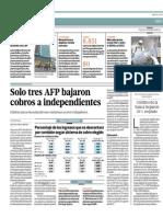 Solo Tres AFP Bajaron Cobros a Independientes_El Comercio 22-07-2014
