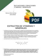 Estructura Funciones y Reacciones de Vitaminas y Minerales