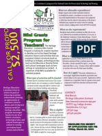 Heritage Education Call for Proposals Flyer 2004