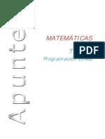 Tema 4 Programacion Lineal Completo Sin Solución de Ejercicios