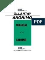 Anon - Ollantay (Obra de Teatro Inca)