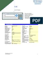 Exor MKDR-05 Specsheet