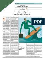 Perú_Está Perdiendo Su Brillo_El Comercio 22-07-2014