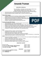 amanda truman resume