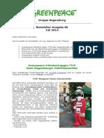 Newsletter 86 Greenpeace Regensburg Juli 2014